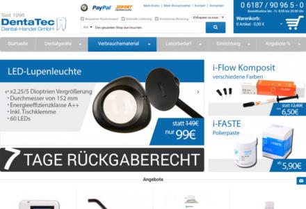Изработка на онлайн магазин за Dentatec