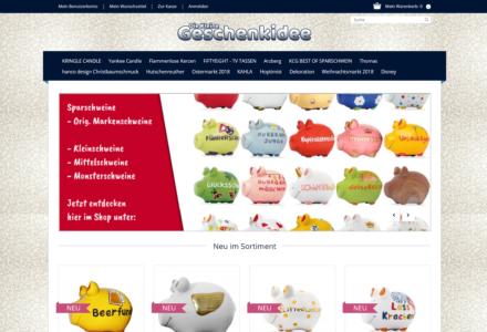 Изработка на онлайн магазин за Diekleinegeschenkidee