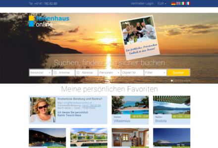 Изработка на уеб сайт за Ferienhaus