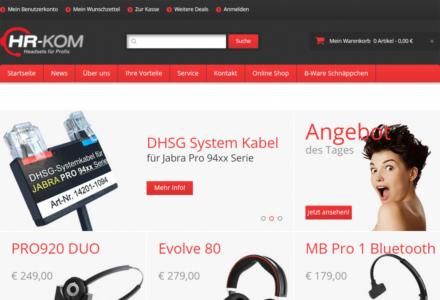 Изработка на онлайн магазин за Hr-kommunikation