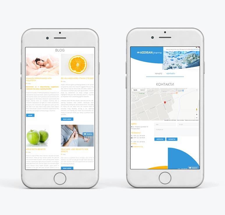 изработка на уеб сайт с мобилна верися пловдив
