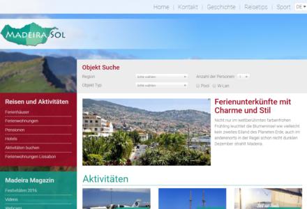 Изработка на уеб сайт за Madeirasol