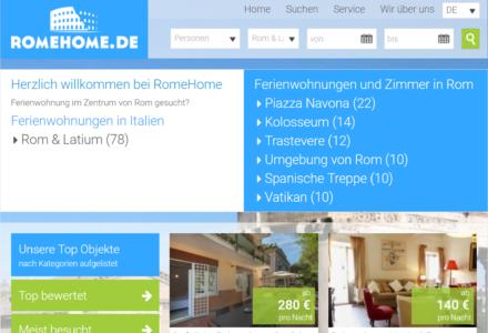 Изработка на уеб сайт за Romehome